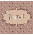 vintage design card vector image