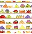 Fruits on shelves seamless pattern for your vector image vector image