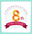 colorful polygonal anniversary logo 3 008 vector image