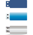 usb flash icons set vector image vector image