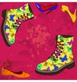 Background with woman shoes vector image vector image