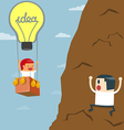 Business moves faster with a idea bulb balloon vector image