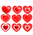 heart set for valentine days red color vector image