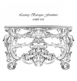 Imperial Baroque Classic commode table furniture vector image