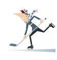 Man an ice hockey player vector image