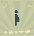 pregnant woman icon vector image