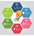 six 6 elements of idea info graphic chart vector image