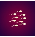 Sperm icon Flat design style vector image