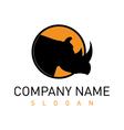 rhino logo 2 vector image