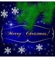 Blue Christmas Holiday Greeting Card vector image