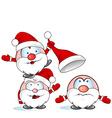 funny santa claus group vector image vector image
