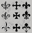 fleur de lis and crosses vector image
