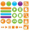 audio and video buttons vector image