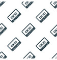 audio cassette tape seamless pattern vector image