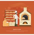 Bakery Work vector image