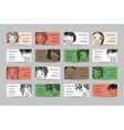 Business cards with cute girls for your design vector image