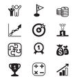 Business goal icons set vector image