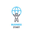 business start concept outline icon linear sign vector image