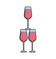 champagne glasses pyramid drink event celebration vector image