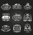 farm market and food festival hand drawn vector image