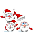 funny santa claus group vector image