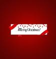 Merry Christmas Greeting Card with Christmas vector image