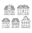 Old hand drawing houses isolated vector image
