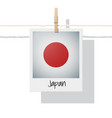photo of japan flag on white background vector image