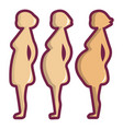 pregnant period icon cartoon style vector image