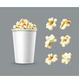 set of popcorn vector image