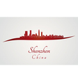 Shenzhen skyline in red vector image
