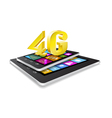 Tablet pc phone and new technology vector image vector image