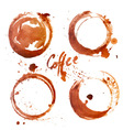 watercolor Coffee Stain vector image