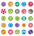 Abstract icon set symbols collection vector image vector image