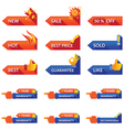 Arrow Label for Promotion and Guarantee vector image