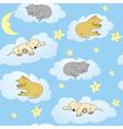 sleepy animals vector image