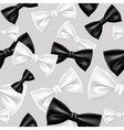 Bow tie seamless pattern vector image