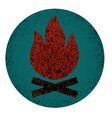 campfire flat icon vector image