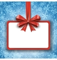 Christmas paper red card vector image