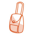 female hand bag icon vector image