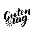 guten tag word hello good day in german vector image