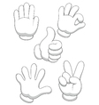 Hand sign cartoon vector image