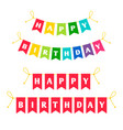 happy birthday letters bounting flags vector image