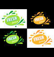 label with text fresh juice vector image