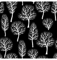 Seamless pattern with abstract stylized trees vector image
