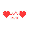 simple blood pressure icon vector image
