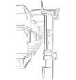 sketch of passenger train interior vector image