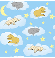 sleepy animals vector image