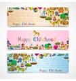 Toys banners horizontal set vector image