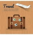 travel suitcase retro airplane design vector image